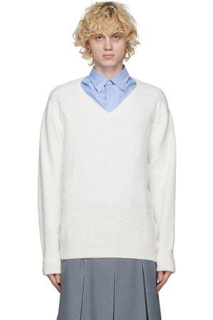 Maison Margiela Off-White Gauge 7 V-Neck Sweater