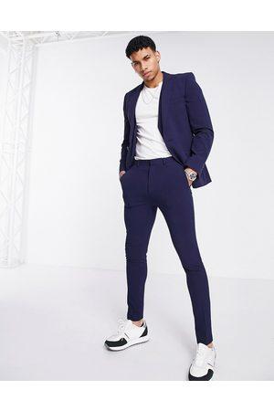 ASOS Men Skinny Pants - Super skinny suit trousers in navy