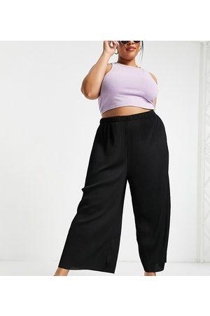 ASOS Women Leggings - ASOS DESIGN Curve plisse culotte trousers in