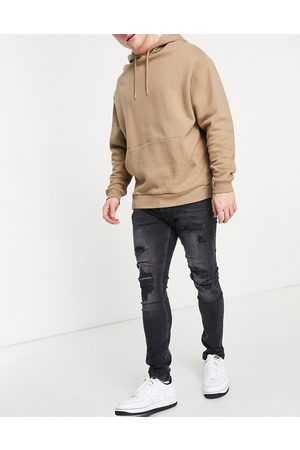Topman Men Skinny - Extreme blowout skinny jeans in washed