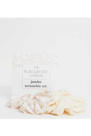Flat Lay Company The Flat Lay Co. X ASOS Exclusive Neutral Jumbo Scrunchie Set-Multi