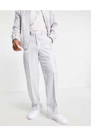 ASOS Men Wide Leg Pants - Smart wide leg hammered satin trousers co-ord