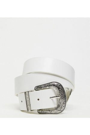 My Accessories Curve My Accessories London Curve Exclusive western double buckle belt in