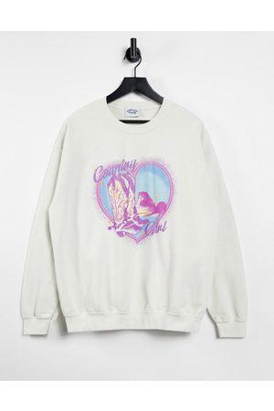 Vintage Supply Women Sweatshirts - Oversized sweatshirt with country girl print