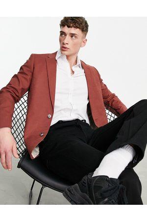 ASOS Men Blazers - Oversized linen mix blazer in rust