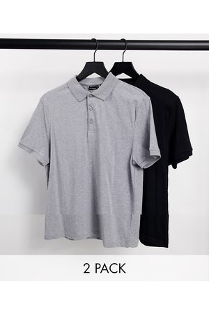 ASOS 2 pack organic jersey polo in multi