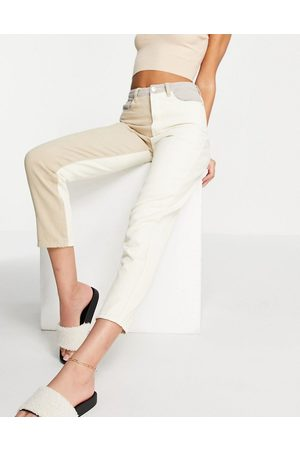 Missguided Women Slim - Riot jean with neutral patch detail in cream