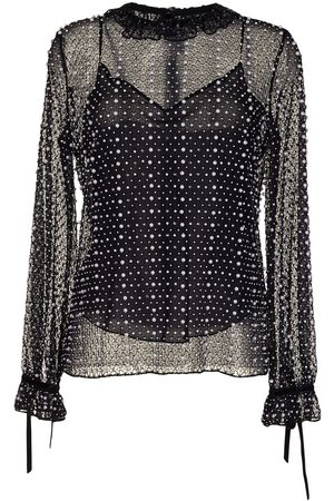 RALPH & RUSSO Net-lace embellished blouse