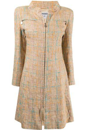 CHANEL Zip-up tweed coat