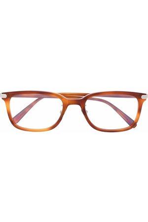 BRIONI Tortoise-shell square-frame glasses