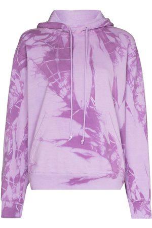 COME BACK AS A FLOWER Women Hoodies - Tie-dye cotton hoodie