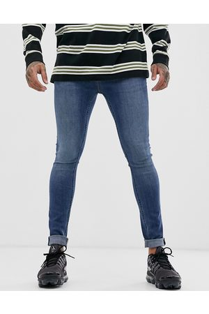 Topman Spray on jeans in mid wash