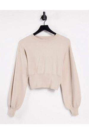 ASOS Mix & match lounge premium knitted crew neck sweat in biscuit