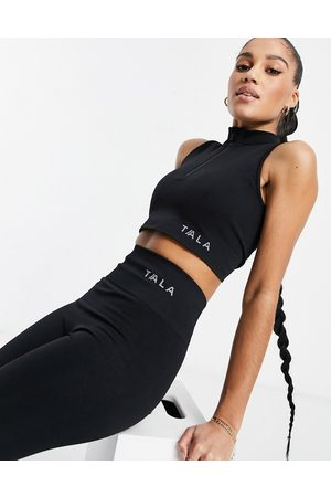 Tala Zahara medium support sports bra with half zip in