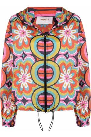 La DoubleJ Graphic-print hooded jacket