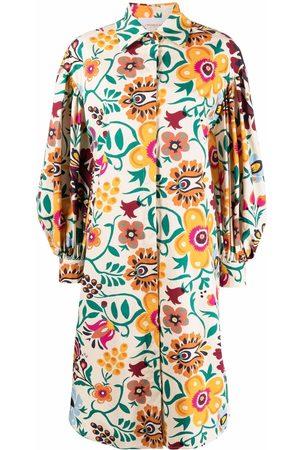La DoubleJ Floral-print cotton shirt dress