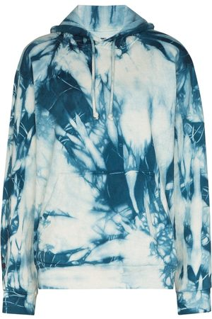 COME BACK AS A FLOWER Tie-dye cotton hoodie