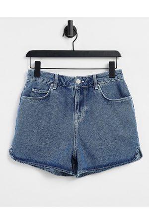 ASOS Denim runner shorts in vintage dark wash