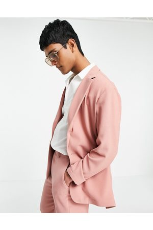 ASOS Soft tailored relaxed oversized suit jacket in pastel crepe