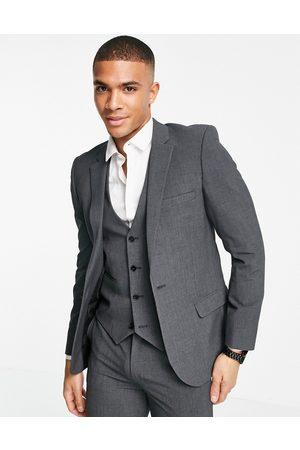 ASOS Super skinny suit jacket in charcoal