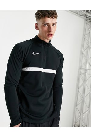 Nike Academy drill quarter zip top in and white