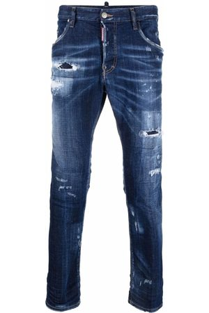 Dsquared2 Ripped-detail slim-fit jeans