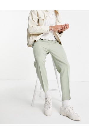 ASOS Tapered smart trousers in mint