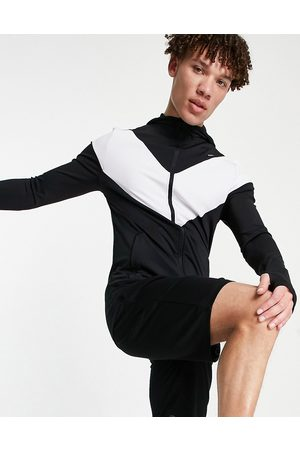 ASOS Muscle fit training hoodie with contrast panel