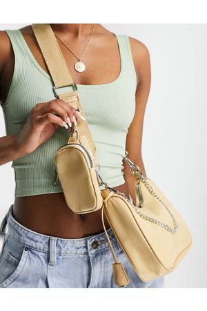 Ego Cross body bag with purse and chain detail in -Neutral