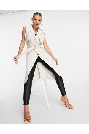 4th & Reckless Sleeveless trench duster in -Neutral