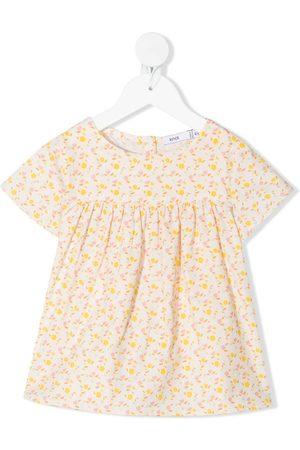 KNOT Floral-print organic cotton top