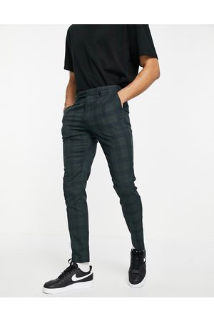 ASOS Skinny suit trousers in tonal and navy check
