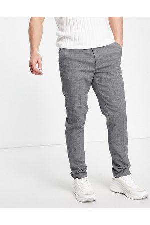 ASOS Super skinny smart trouser in grey micro texture