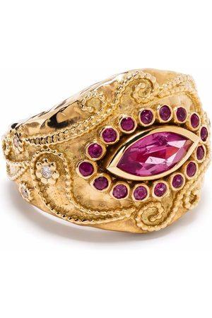 Aurélie Bidermann 18kt yellow Cashmere rubellite, ruby and diamond ring