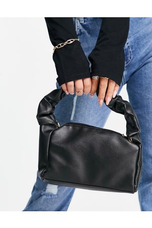 Ego X Maura shoulder bag with ruched handle and chain in