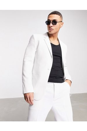 ASOS Skinny suit jacket in ice textured fabric