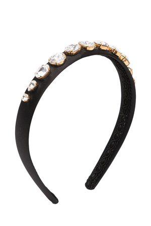 Dolce & Gabbana Girls Headbands - Crystal-embellished satin headband
