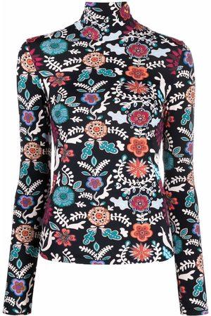 La DoubleJ Floral-print rollneck jumper