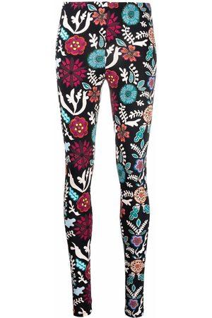 La DoubleJ Women Leggings - Floral-print stretch leggings