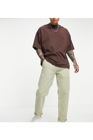 New Look Original fit cargo trousers in stone-Neutral