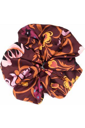La DoubleJ Giga botanical-print scrunchie