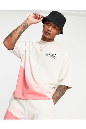 ASOS Co-ord oversized t-shirt in with curved colour block detail