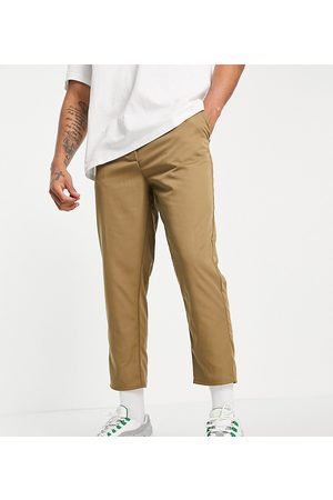 Reclaimed Vintage Inspired cropped relaxed trouser in khaki