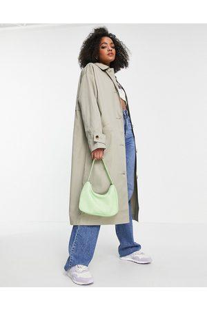 ASOS Longline trench coat in khaki