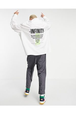 ASOS Super oversized shirt with back text print