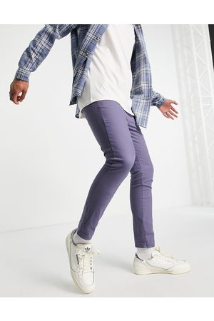 ASOS Super skinny cropped chinos in blue