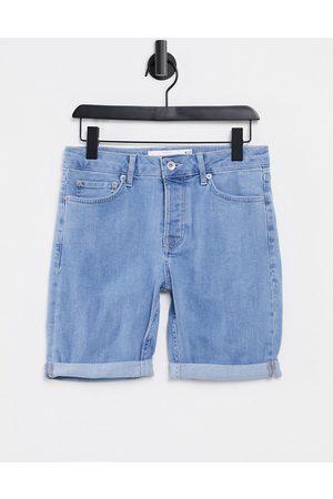 Topman Stretch skinny denim shorts in mid