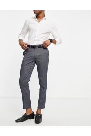 ASOS Skinny smart trouser in navy texture
