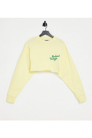 Reclaimed Vintage Inspired crop sweat with logo in