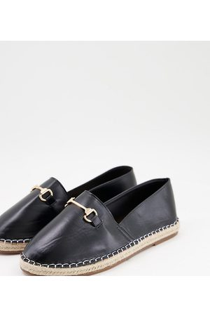 Truffle Collection Wide fit loafer trim espadrilles in